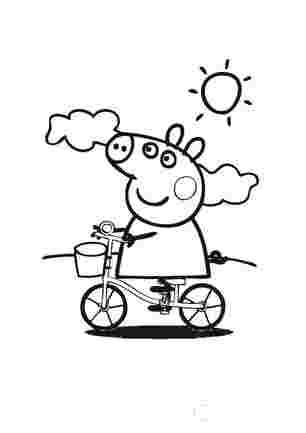 Свинка Пеппа на велосипеді