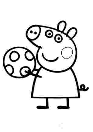 Свинка Пеппа з мячем