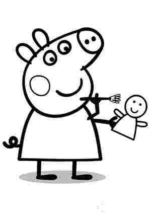 Свинка Пеппа з лялькою