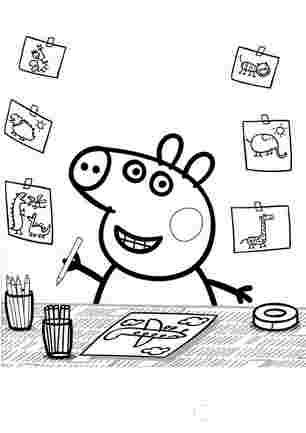 Пеппа малює