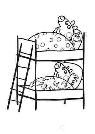 Пеппа і Джордж в ліжечках