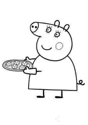 Мама Свинка спекла печиво