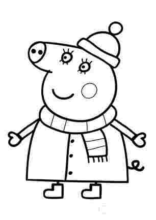 Мама Свинка в зимовому одязі