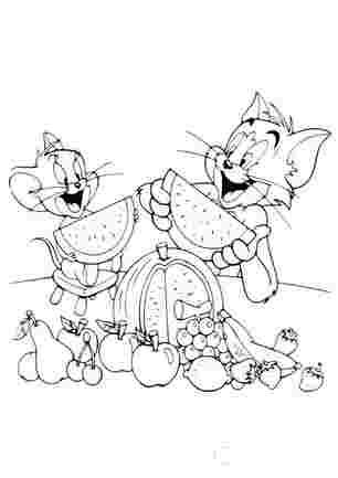 Том і Джері обідають кавуном