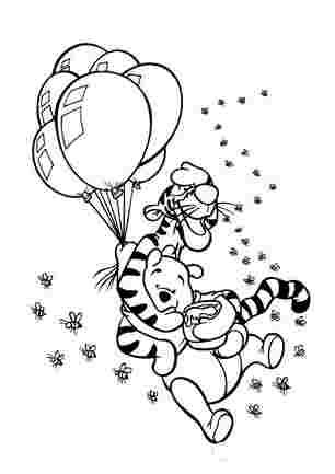 Вінні і Тигра на повітряних кульках