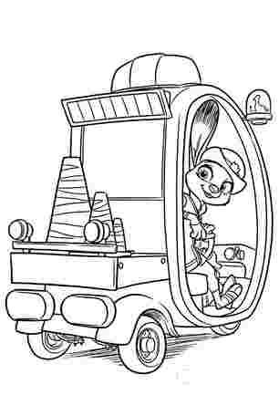 Звірополіс Джуді у поліцейської машині