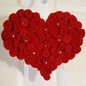 Чай з любов'юПодарунки на день Валентина - Серце із троянд майстер клас