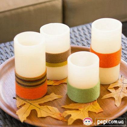 Декоруємо свічки