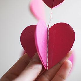 Серце із паперу ГІРЛЯНДИ