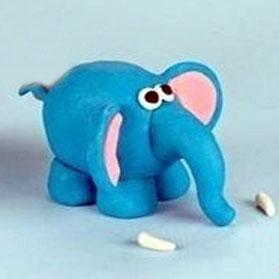 Ліпимо слоника із пластиліна