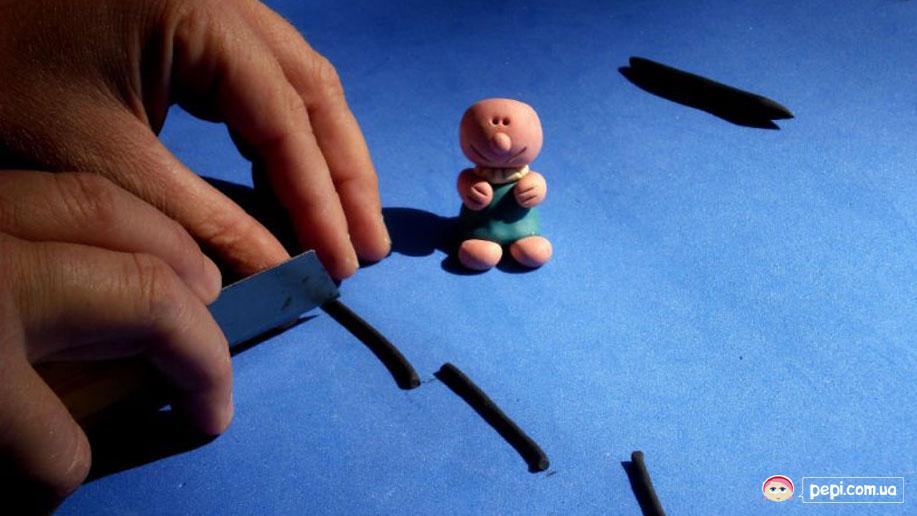 Лялька із пластиліна - тіста