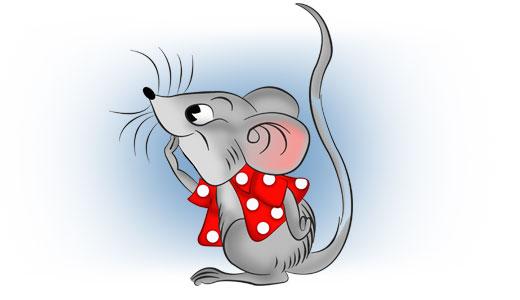 Малювала зранку мишка